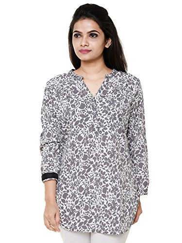 Twist Women's Printed Casual Party Wear 3/4th Sleeve Short Kurti Top,(M) With...