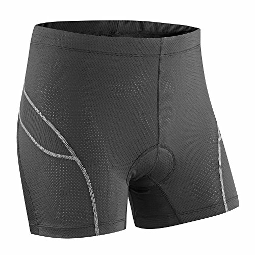 Ladies Deluxe Padded Boxers/Undershorts - Black/Grey -  12 (Shorts Padded Bike Womens)