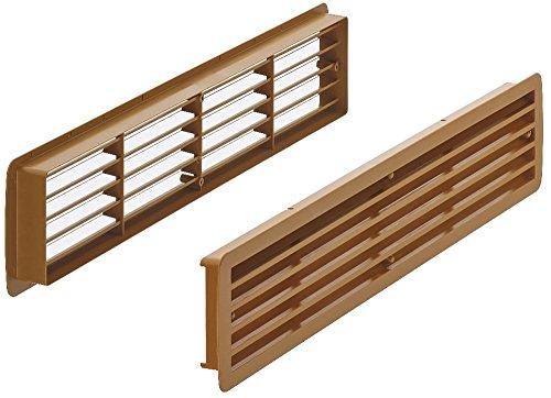 Gedotec Rejillas de Ventilación para Puerta | Cubierta Rectangular para Aeración |...