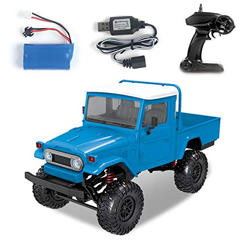 Goolsky MN-45 RC Crawler 2.4G 4WD Racing Off-Road Truck 4x4 1/12 Scale RC Car Fast High Speed Electric Vehicle with Led Light for Kids and Adults RTR