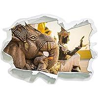 Elephant divinità in Tailandia, autoadesivo della parete formato carta 3D: 92x67 cm decorazione della parete 3D Wall Stickers parete decalcomanie