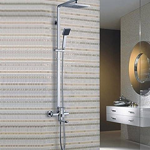 YanCui@ Rubinetti per doccia Imposta placcatura grande doccia superiore in lega di zinco-bagno doccia rubinetto