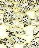 Benartex Touch of Luxe Quilt-Stoff, Baumwolle, Schmetterlingsmuster, cremefarben