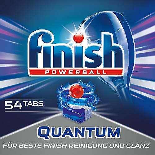 Finish Quantum, Spülmaschinentabs, Geschirrspültabs für beste Finish Reinigung und Glanz, Geschirrspülmittel, XXL Pack, 50 + 4 Tablets