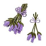 Bügelaufnäher Lavendel 6er Set Stoff 9cm lila