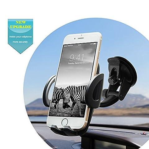 Quntis Universel Auto Voiture Téléphone GPS Support Phone Holder Tableau de Bord Phone Support Téléphone Voiture avec Rotation à 360 ° pour iPhone 7 6s 6Plus 6 5s 5 4s 4 Samsung Galaxy S6 S5 S4 LG Nexus SNOY Nokia etc.