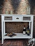Livitat® Kommode Holz Sideboard 90 x 35 x 80 cm Beistelltisch Anrichte Weiß Landhaus LV4055