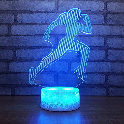 Bbdeng 3D-Nachtlicht LED-Touch-Farbwechsel optische Täuschungslampe kreative Kinder mit schlafender Tischlampe Schlafzimmer Vision Umgebungslicht Brillante Farbe Ausdauertraining