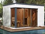 Saunahaus Cubilis - Variante: OS, Ofen: 7,5 kW Saunaofen, Steuerung: multifunktional mit Digitalanzeige