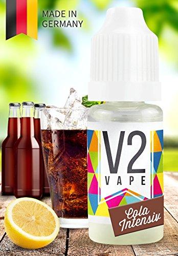 V2 Vape E-Liquid Cola Intensiv - Luxury Liquid für E-Zigarette und E-Shisha Made in Germany aus natürlichen Zutaten 100ml 0mg nikotinfrei
