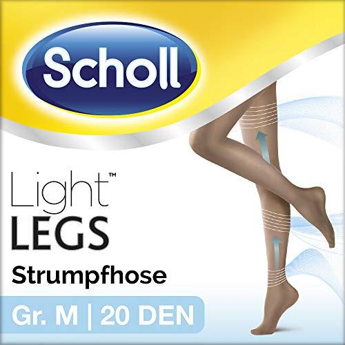Scholl Light Legs Strumpfhose - Damen-Strumpfhose mit Kompressionsfunktion & Anti-Laufmaschen-Technologie in M - Transparente, schwarze Stützstrumpfhose - 1 Paar mit 20 DEN