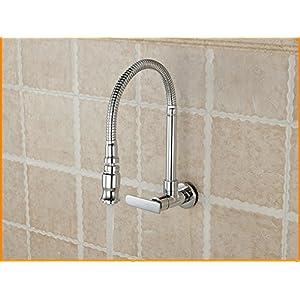 WINZSC Piscina de fregona, lavadero, pileta, fregadero de la cocina, frigorífico, lavabo, grifo, todo cobre, tubo…