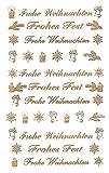 AVERY Zweckform 52391 Weihnachtssticker Schriftzüge (geprägte Folie) 44 Aufkleber