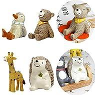 MagiDeal 4pcs Mini Animali Figura Resina Miniatura Giocattoli per Mobili Decorazione Gioco per Bambini