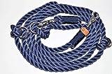 Hundeleine Tau 270cm Dark Blue/Midnight Blue/Chrom