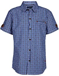 Super Young Shirt for Boys - White and Navy Blue Shirts - Checked Shrit - Cotton Material - Stylish Shirt for Boys - with Front Pocket