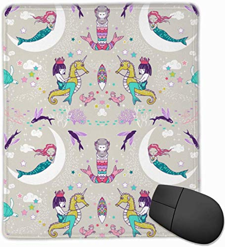 vbndgfhjd Mouse Pad Mermaid Lullaby Small Candy Rectangle Non Slip Rubber Mousepad Computer...