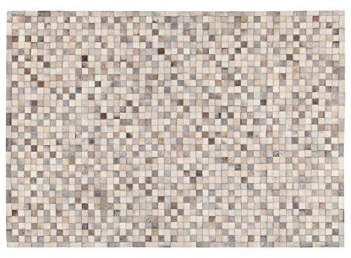 ABC 9010742Alfombra, piel, gris, 200x 60x 0.8cm