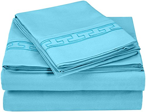 super-soft-light-weight-100-brushed-microfiber-queen-wrinkle-resistant-4-piece-sheet-set-aqua-with-r