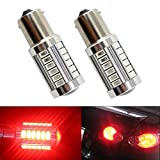 Lot de 2 ampoules LED de feux de stop arrière Katur 1157 BAY15D 5630 33-SMD - Très lumineuses - Lumière orange de 900 lumens, 8 000 °K - 12 V - 3,6 W