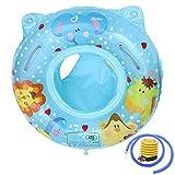 Baby Schwimmring, Baby Aufblasbarer Schwimmen Ring, Dual Airbag, Kleinkind Schwimmsitz für Niedliches Baby Aufblasbarer Bad Schutz Schutzkreis Geeignet für Kinder (Blau)