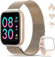 WWDOLL Smartwatch, Orologio Fitness Tracker Impermeabile da 1,4 Pollici Cardiofrequenzimetro da Polso Pression