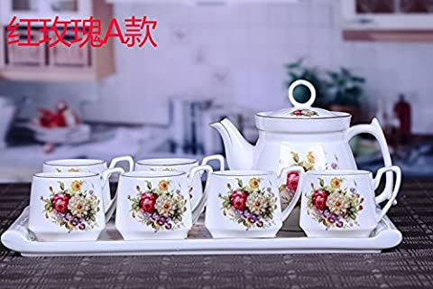 Continental TeekanneHome KaffeeKeramik Tassen PaketGeschenkD