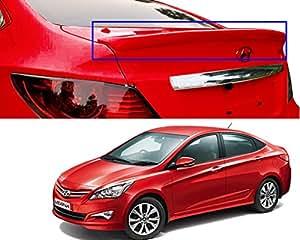 Auto Pearl - Premium Quality OE Type Car Spoiler For - Hyundai Verna Fluidic (Lip) (Wine-Red)