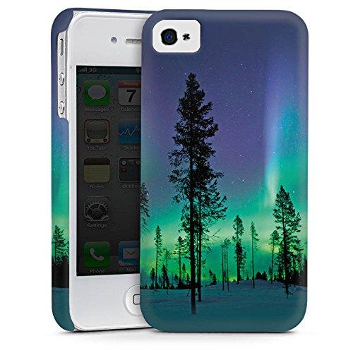 Apple iPhone 4 Housse Étui Silicone Coque Protection Arbres Ciel Mystique Cas Premium mat