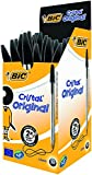 Bic 837363 Cristal Medium Ballpoint Pen - Black (Pack of 50)