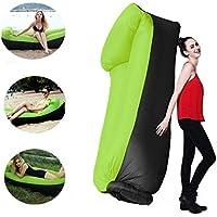 Sofá inflable del aire del poliéster impermeable portátil de 210T, sofá del aire, sofá inflable, aire acondicionado silla de salón de la playa para los viajeros, el acampar, parque, jardín