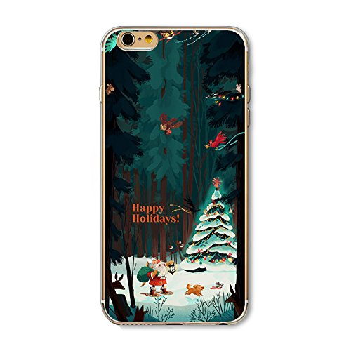 Christmas Hülle iPhone 7 / iPhone 8 LifeePro Weihnachts Cover Ultra dünn Weiches Transparent TPU Gel Silikon Handy Tasche Bumper Case Anti-Scratch Back Cover Full Body Schutzhülle für iPhone 7 / iPhon Christmas Winter