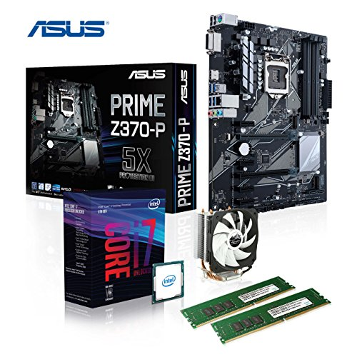 Memory PC Aufrüst-Kit Bundle i7-8700K, 16 GB DDR4, ASUS Prime Z370-P, fertig montiert und getestet -