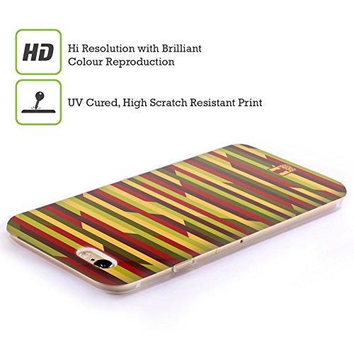 Head Case Designs Schwarz Und Weiss Dynamische Streifen Soft Gel Hülle für Apple iPhone 7 / iPhone 8 Geometrisch