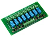 ELECTRONICS-SALON 8 DPDT Signal Relay Module Board, DC5V Version, for PIC Arduino 8051 AVR MCU.