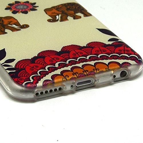 iPhone 6plus (14cm) Coque souple en TPU, yaobaistore Coque de protection en TPU Étui pour Apple iPhone 6plus (13,6cm) Étui souple en silicone gel