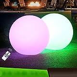 Luci a LED galleggianti da giardino a forma di palla da 30,5 cm, luce RGB impermeabile da esterni a energia solare che cambia colore (10 colori diversi), 12-inch(With remote control)