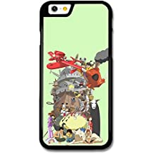 Miyazaki Characters Howl Moving Castle Totoro Red Planes Collage carcasa de iPhone 6