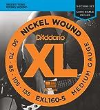 D'Addario EXL160-5 Satz Nickelsaiten für E-Bass 050' - 135' Long Scale
