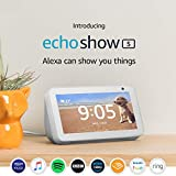 Introducing Echo Show 5 - Compact smart display with Alexa, White