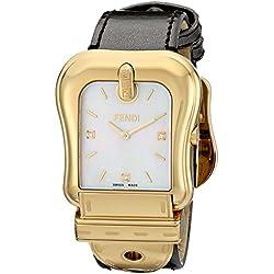 Fendi F380414521D1 - Reloj de pulsera mujer, piel, color marrón