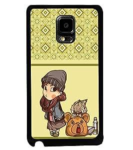 PRINTVISA The Embarasing Girl Premium Metallic Insert Back Case Cover for Samsung Galaxy Note Edge - D5975