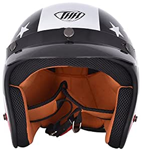 THH USA Open Face Helmet (Black, M)