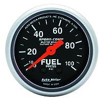 مقياس ضغط الوقود الميكانيكي الرياضي Auto Meter 3312
