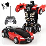 Tec Tavakkal® 2 in 1 Converting Car to Robot Toy with Remote Controller for Kids Indoor and Outdoor 3 Year - Red and…