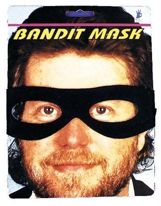 Bandit Mask Black 13645 - Alle Black Bandit Kostüm