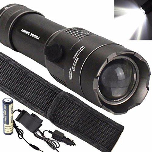 Preisvergleich Produktbild LED Taschenlampe Set, OverDose Tactical 5000LM XML T6 LED Flashlight Torch Lamp + 18650 Battery + Charger