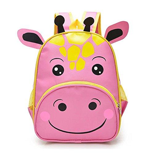 flyingsky Nylon Tiere Kinder Rucksack Jungen Mädchen Wasserdicht Schule Tasche Baby Buch Tasche Pink rose M