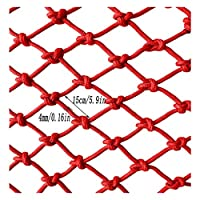 Child Safety Net, Baby Gate Pet Gate Fence Child Safety Railing Net Protection Net, Bird Rope Net Safety Net Child Safety Net Red Nylon Net Cat Net Wall Partition Net (mesh 15cm / Rope Thickness 4mm)