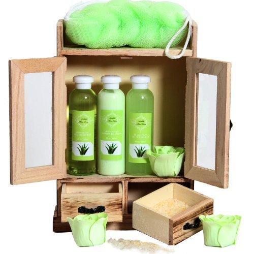 BRUBAKER Cosmetics Bade- und Pflegeset im Holzschrank, 10-teilig 9